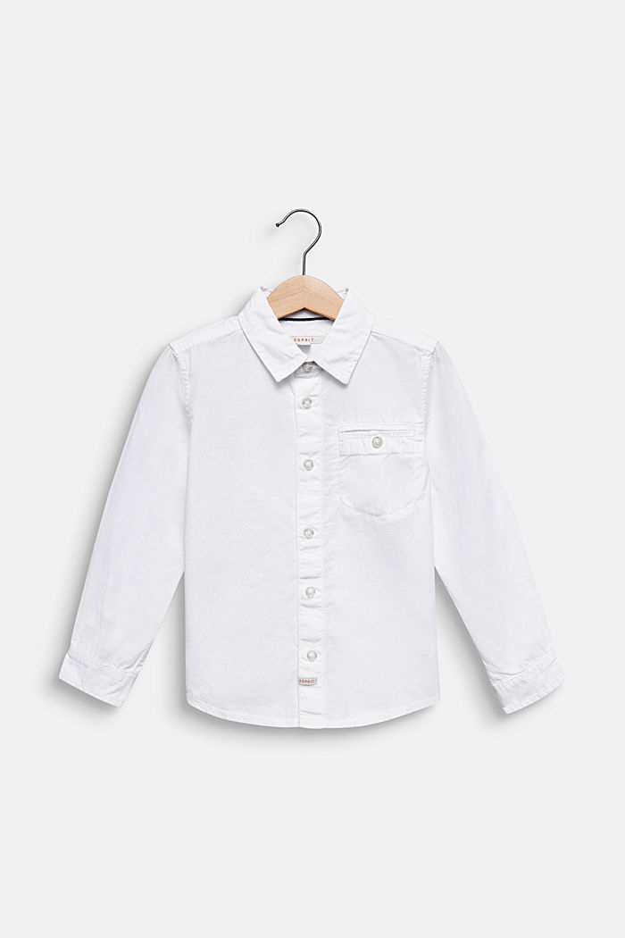 Hemd aus 100% Baumwolle, WHITE, detail image number 0