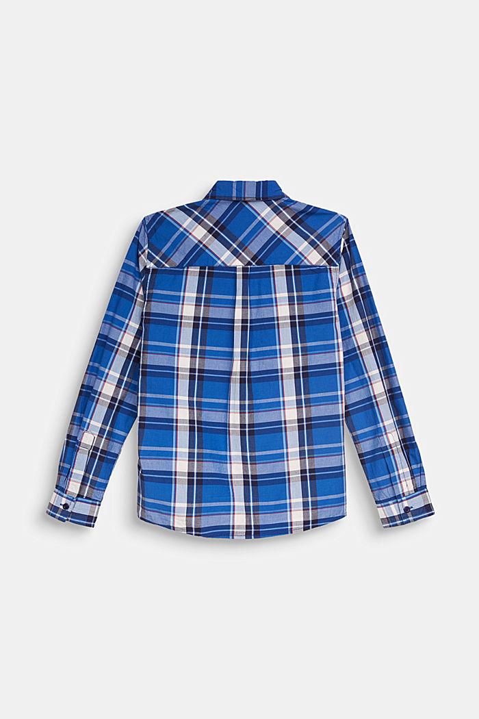 Karo-Hemd aus 100% Baumwolle, ELECTRIC BLUE, detail image number 1