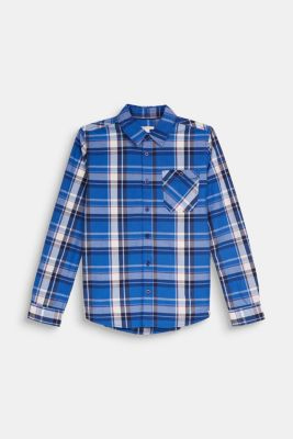 Check shirt in 100% cotton, LCELECTRIC BLUE, detail