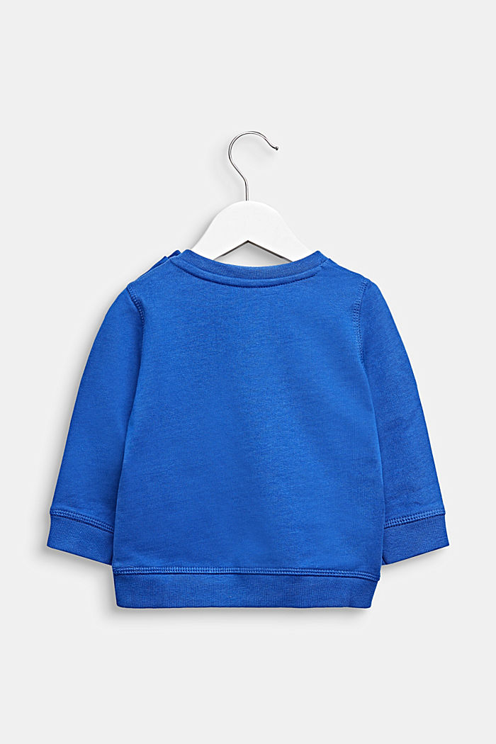 Statement sweatshirt made of 100% cotton, INFINITY BLUE, detail image number 1