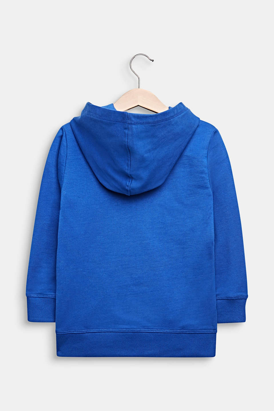 100% cotton sweatshirt fabric top with a print, INFINITY BLUE, detail image number 1