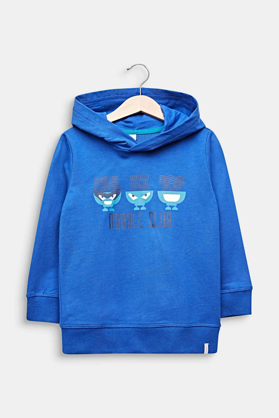 100% cotton sweatshirt fabric top with a print, INFINITY BLUE, detail image number 0