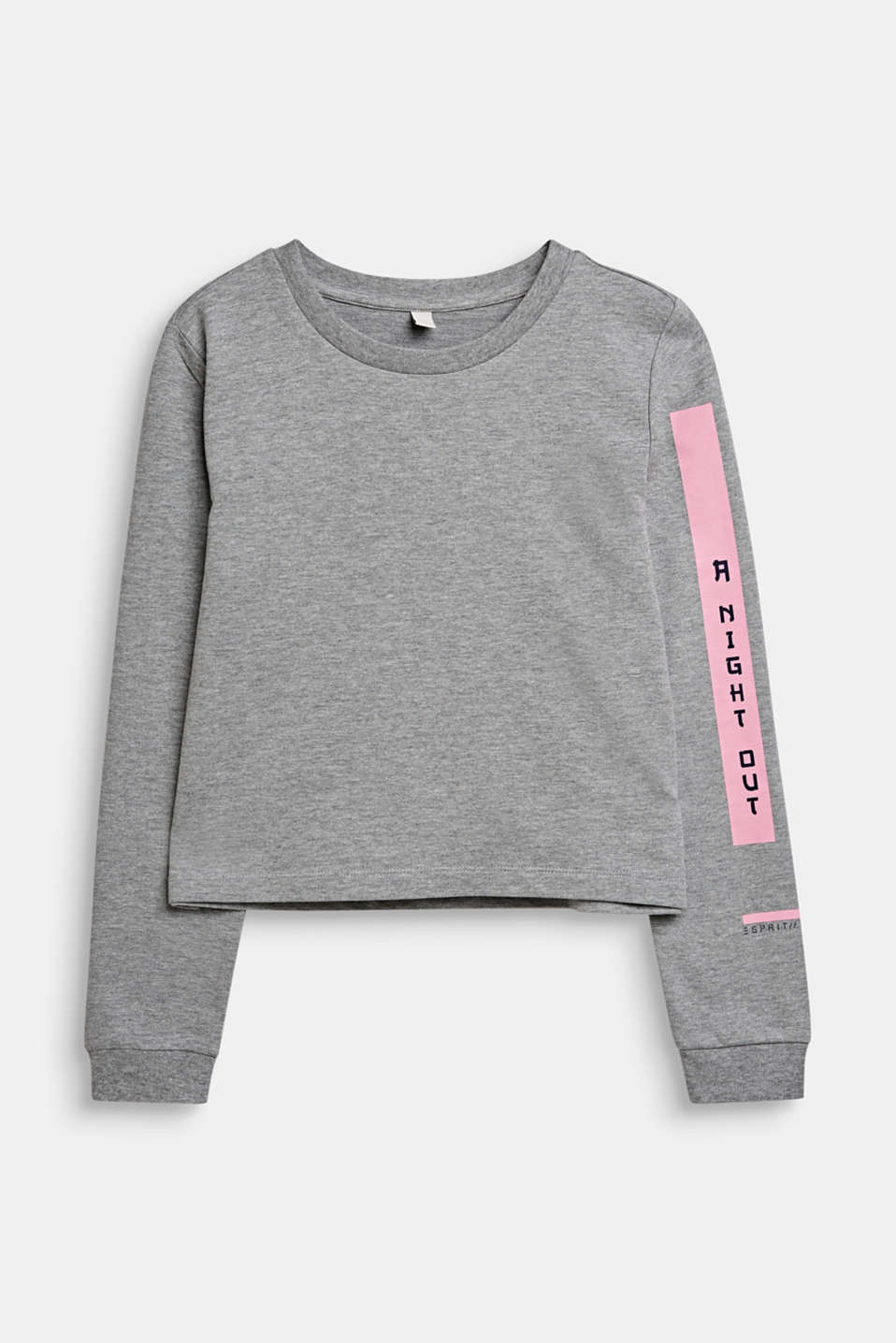Statement print sweatshirt, LCMID HEATHER GR, detail image number 0