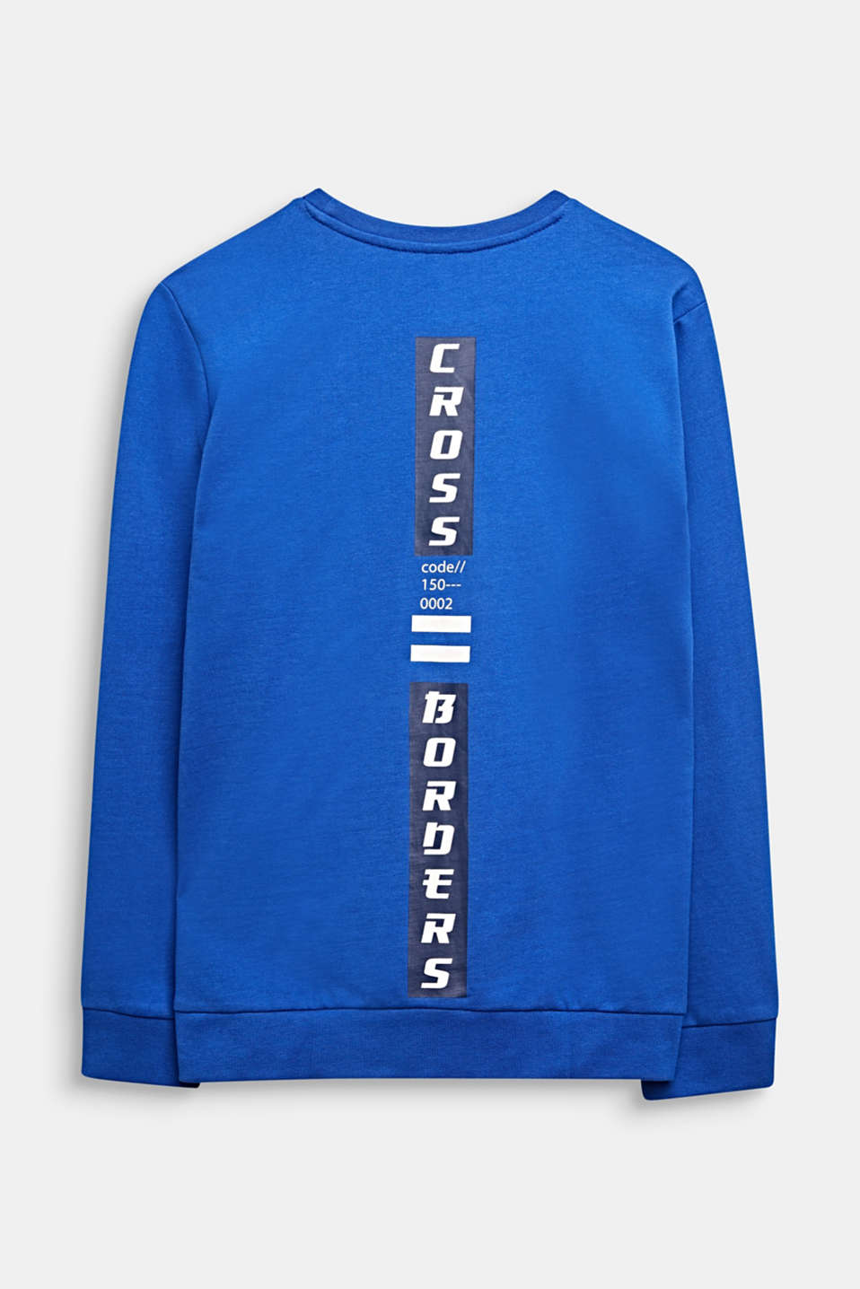Sweatshirt with a print, 100% cotton, LCINFINITY BLUE, detail image number 1