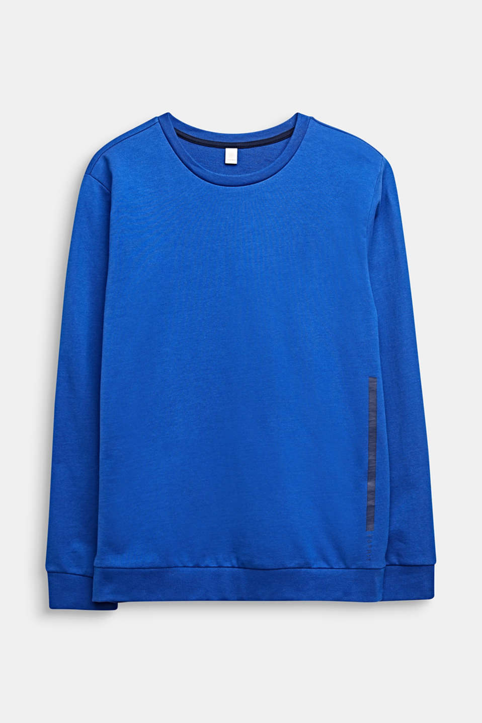 Sweatshirt with a print, 100% cotton, LCINFINITY BLUE, detail image number 0