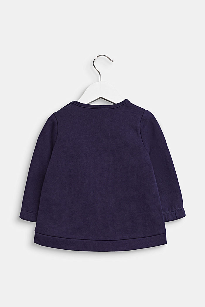 Sweatshirt med kattehoved, 100% bomuld, MIDNIGHT BLUE, detail image number 1