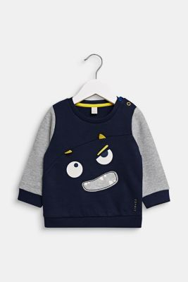 Sweatshirt with monster face, LCMIDNIGHT BLUE, detail