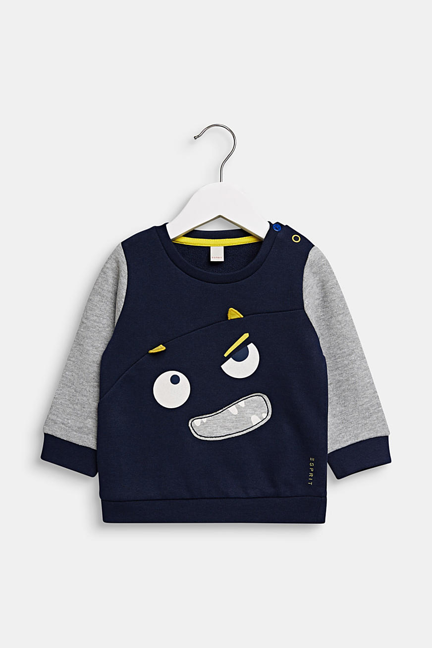 Sweatshirt met monstergezicht