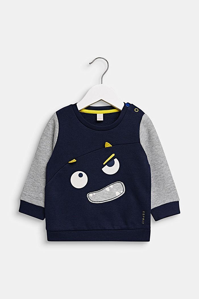 Sweatshirt mit Monstergesicht, MIDNIGHT BLUE, detail image number 0