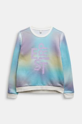 Logo sweatshirt with a colour graduation effect, MULTICOLOR, detail