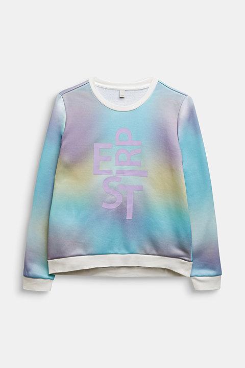 Logo sweatshirt with a colour graduation effect
