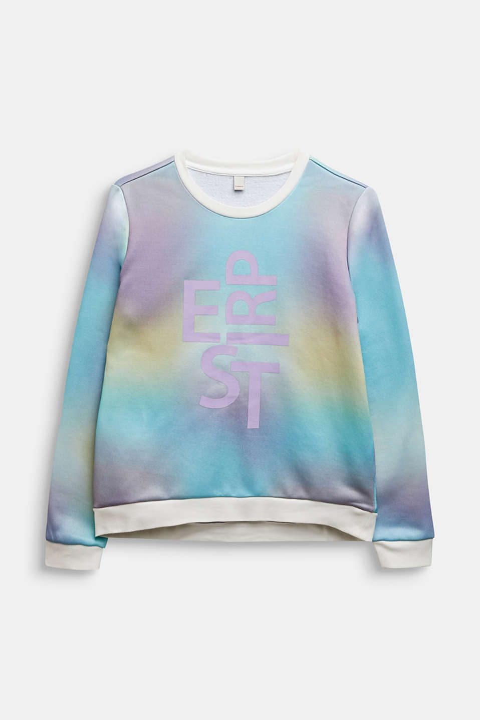 Logo sweatshirt with a colour graduation effect, LCMULTICOLOR, detail image number 0