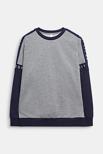 Colour block sweatshirt with a logo, 100% cotton