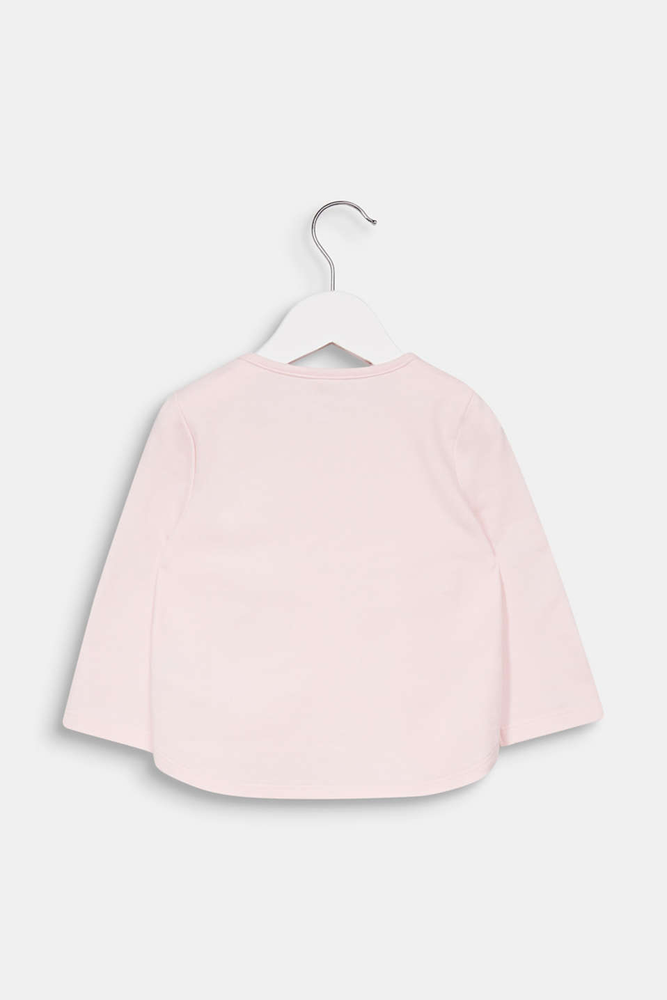 Sweatshirt with a print, 100% cotton, LCLIGHT PINK, detail image number 1