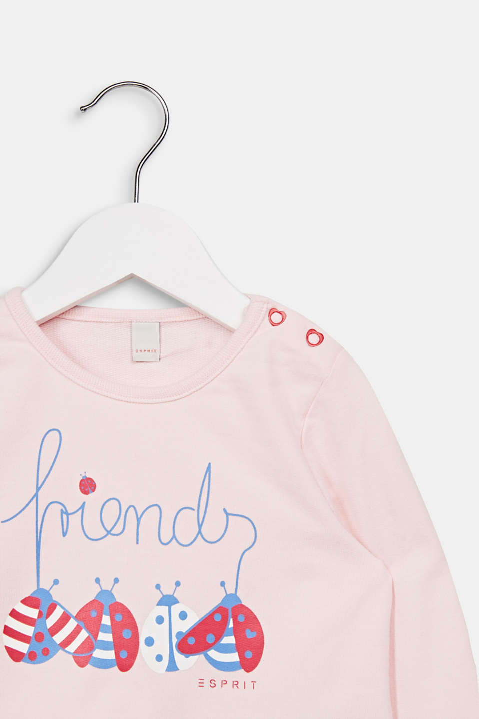 Sweatshirt with a print, 100% cotton, LCLIGHT PINK, detail image number 2