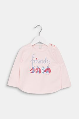 Sweatshirt with a print, 100% cotton, LCLIGHT PINK, detail