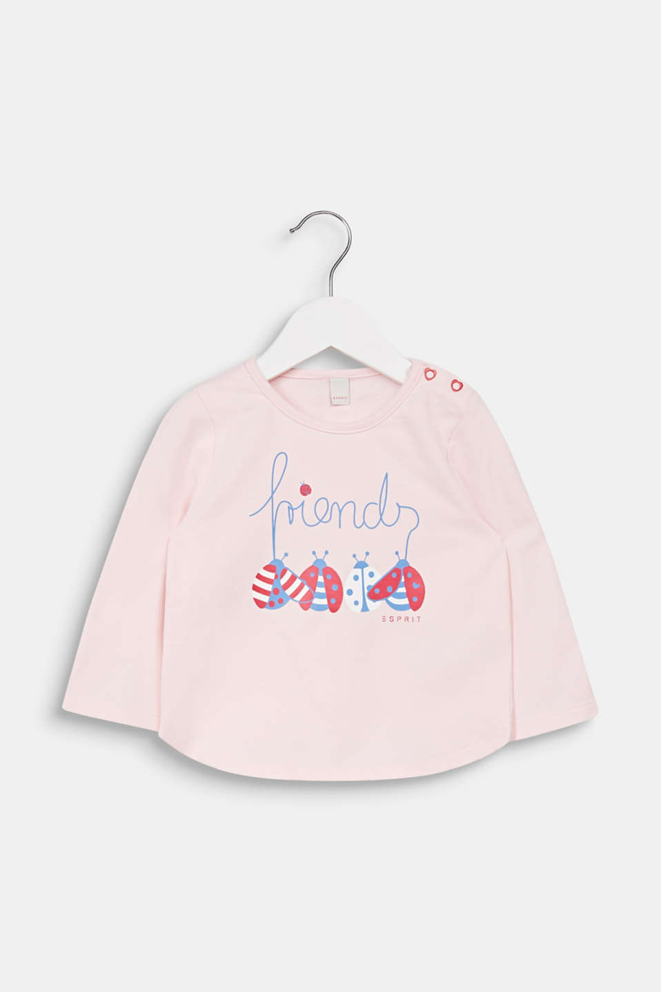 Sweatshirt with a print, 100% cotton, LCLIGHT PINK, detail image number 0