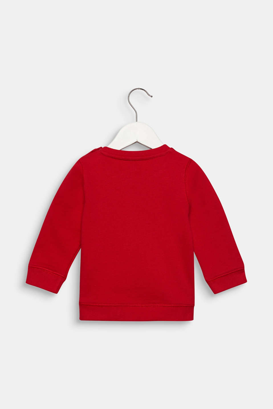 Sweatshirt with front print, 100% cotton, LCRED, detail image number 1