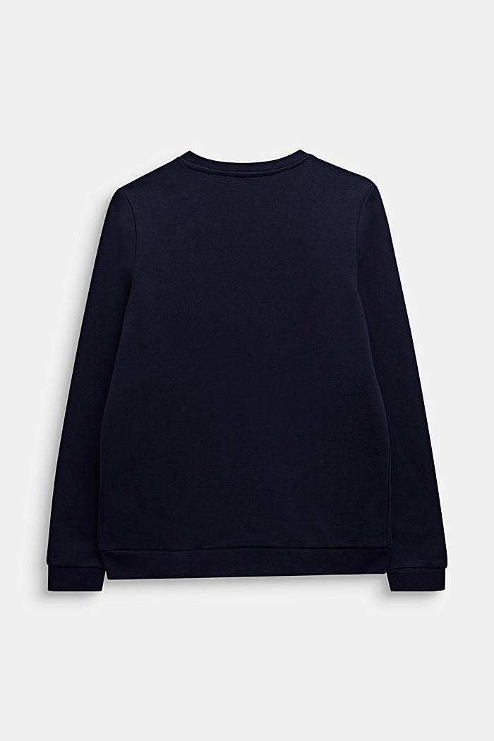 Sweatshirt met een print met sierlijke pailletjes, MIDNIGHT BLUE, detail image number 1