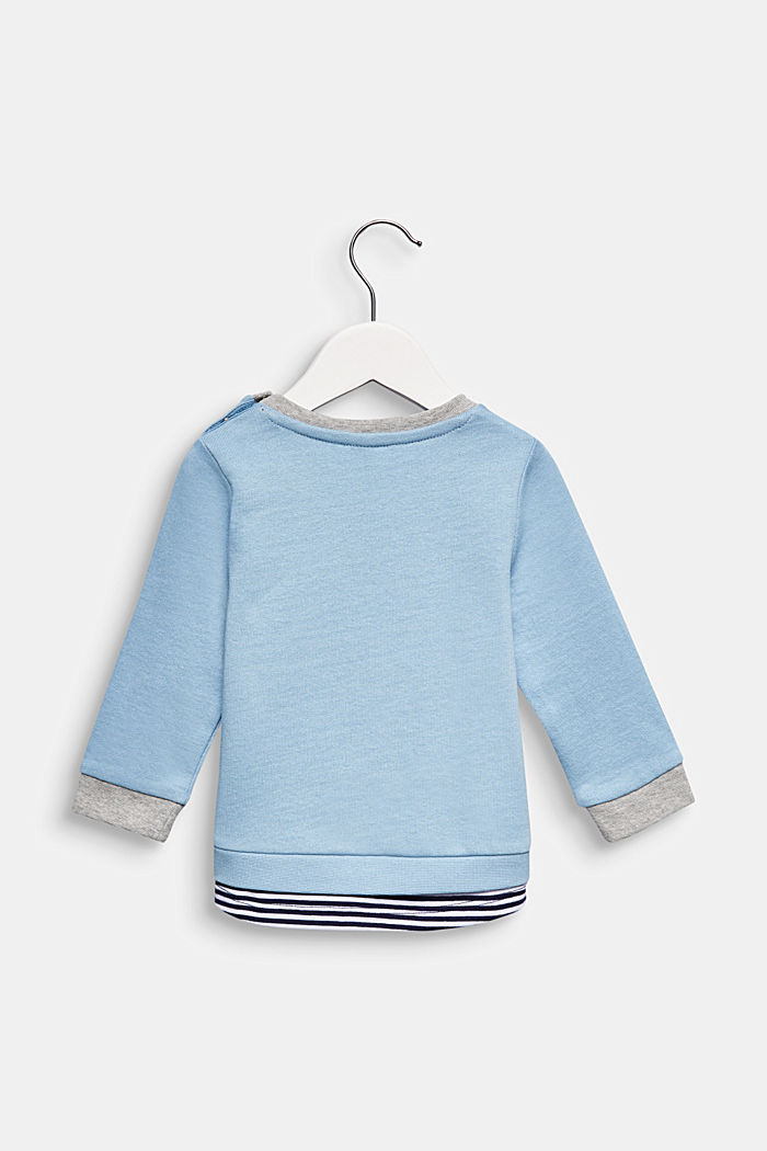 Sweatshirt met print, 100% katoen, LIGHT BLUE, detail image number 1