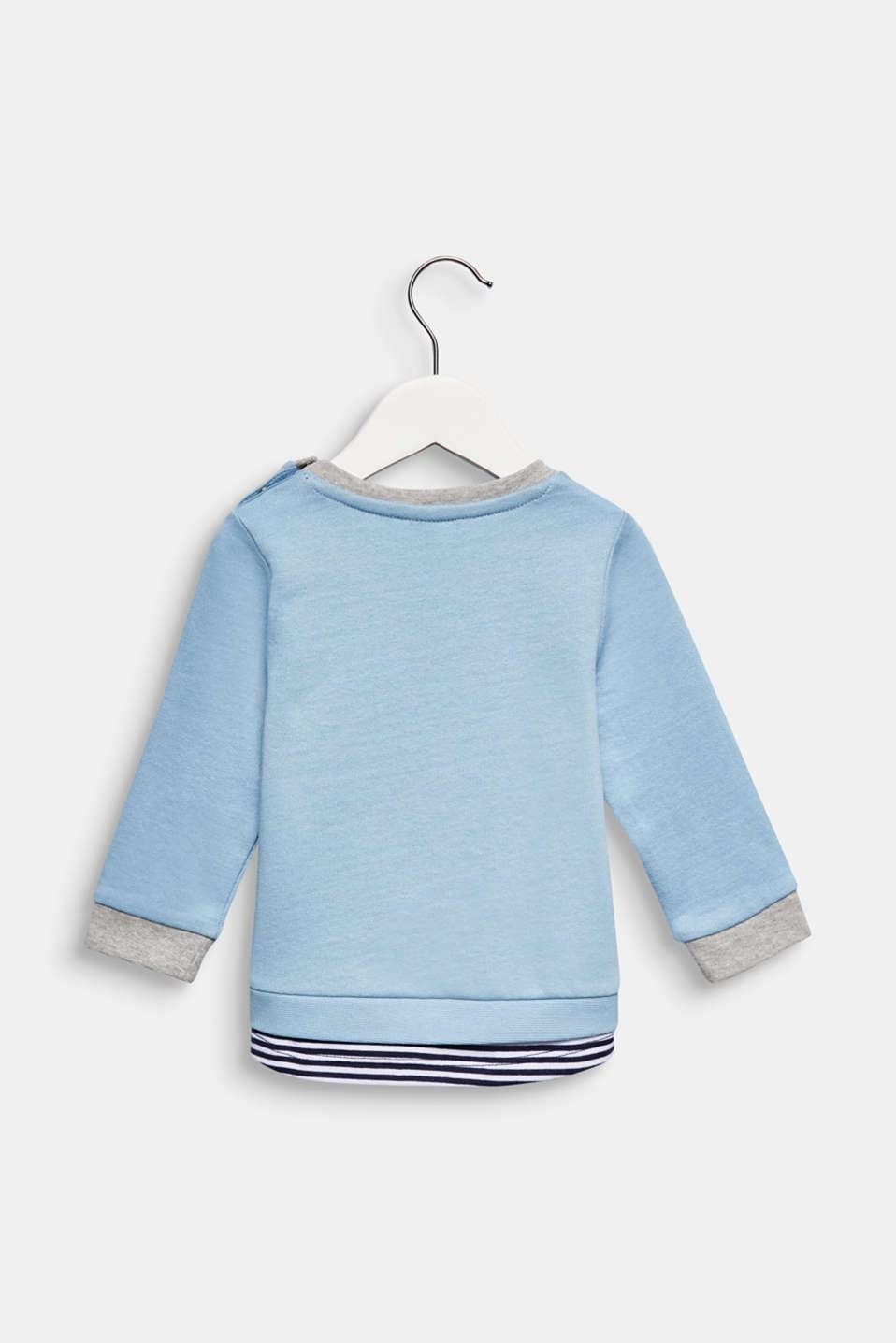 Sweatshirt with a print, 100% cotton, LCLIGHT BLUE, detail image number 1