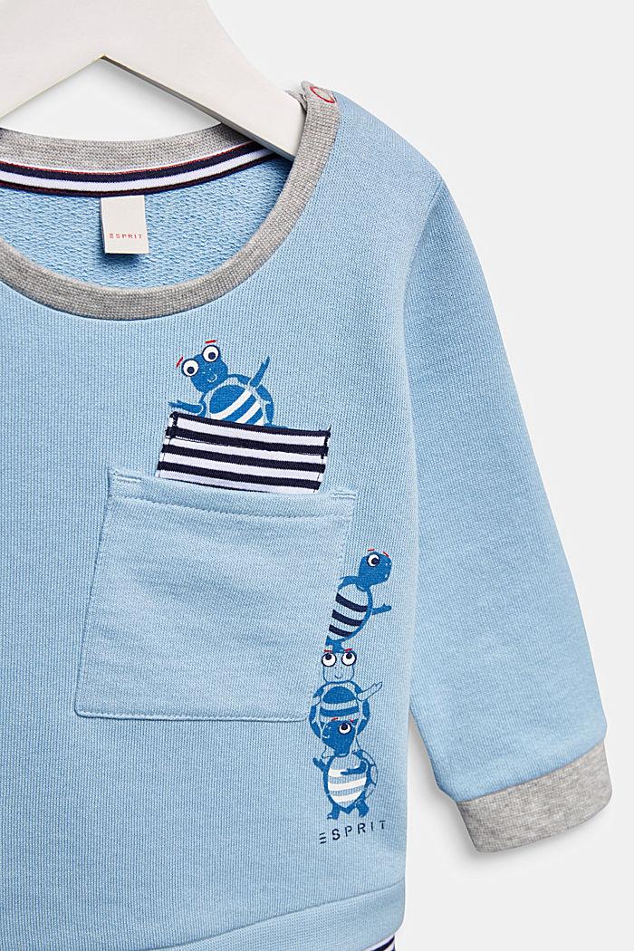Sweatshirt met print, 100% katoen, LIGHT BLUE, detail image number 2