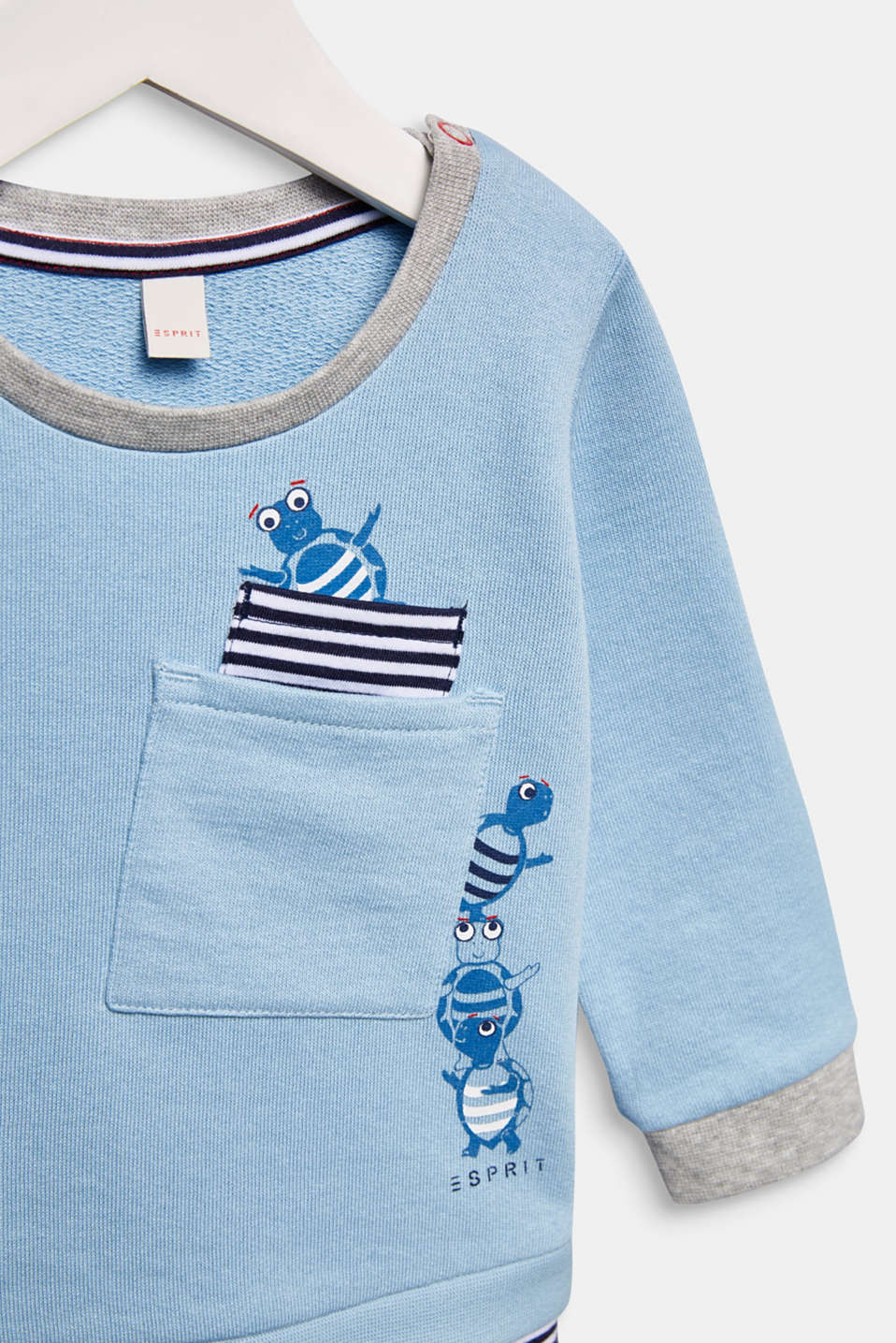Sweatshirt with a print, 100% cotton, LCLIGHT BLUE, detail image number 2