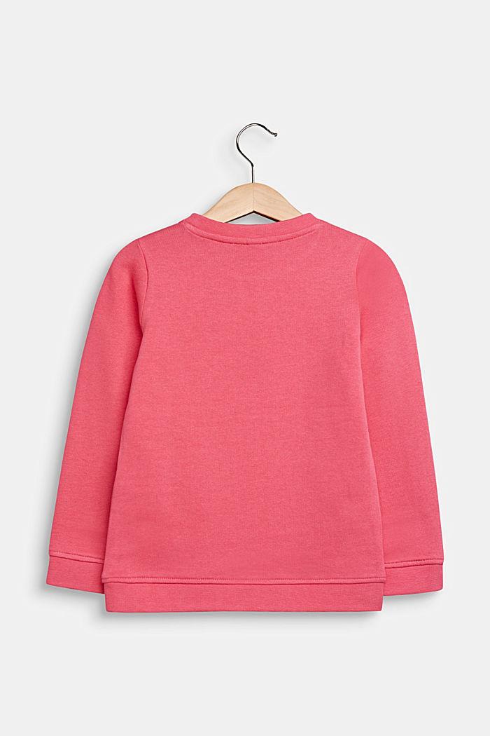Sweatshirt met print, 100% katoen, DARK PINK, detail image number 1