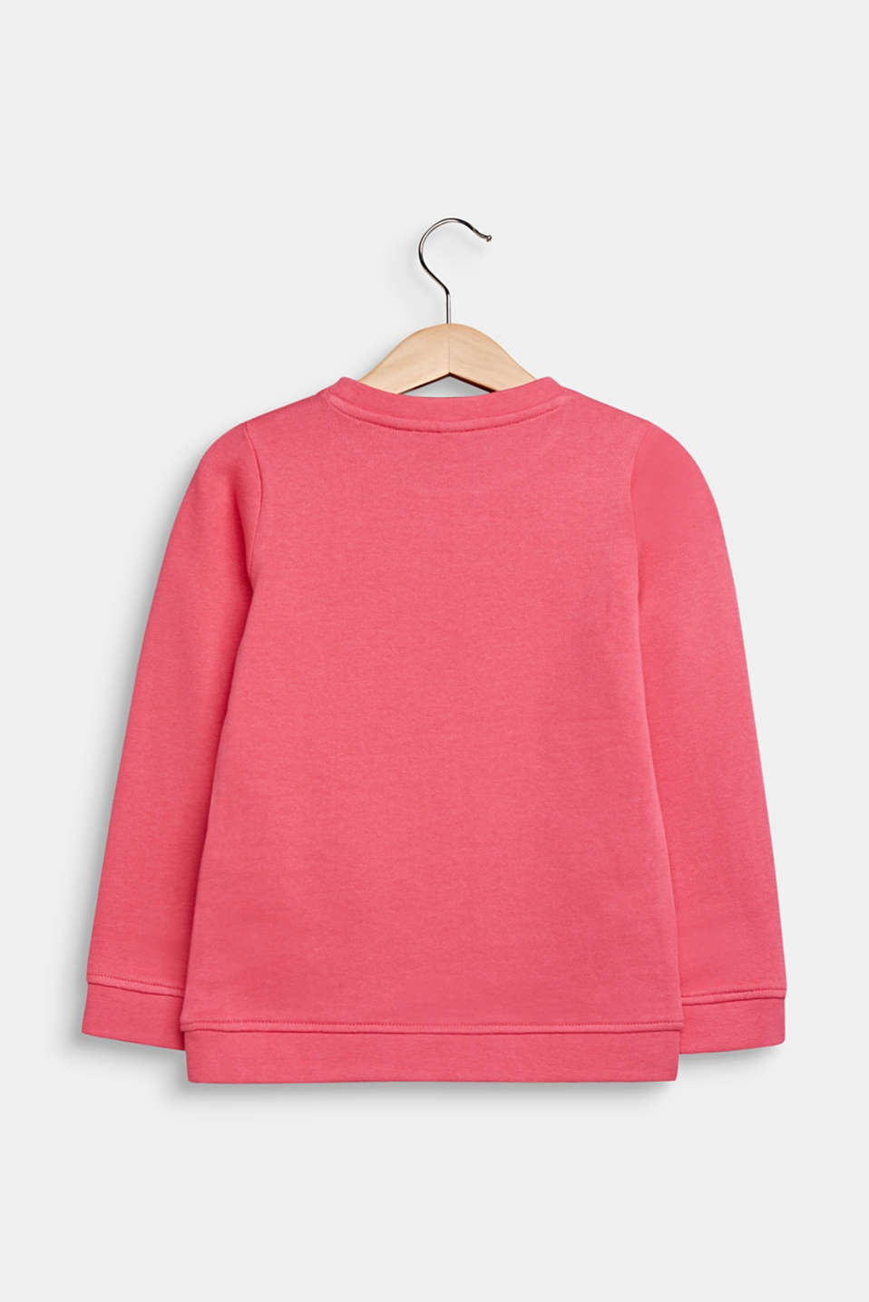 Sweatshirt with a print, 100% cotton, DARK PINK, detail image number 1