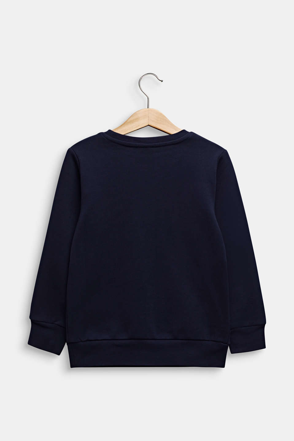 Sweatshirt with reversible sequins, 100% cotton, MIDNIGHT BLUE, detail image number 1