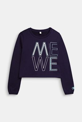 Sweatshirt in 100% cotton, NIGHT BLUE, detail