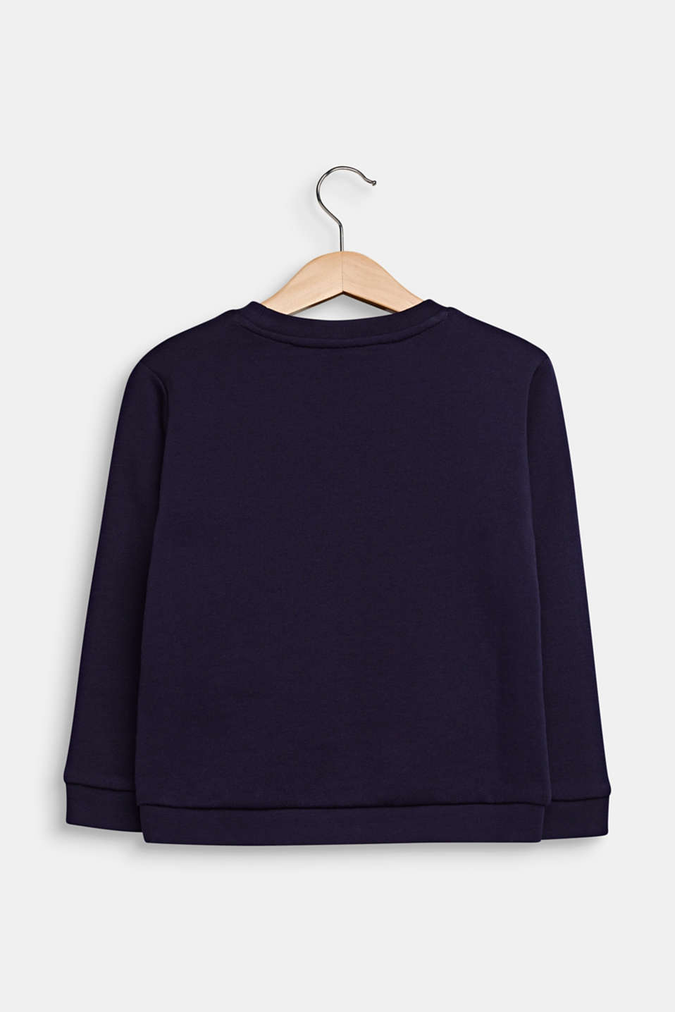 Sweatshirt with a glitter print, 100% cotton, NIGHT BLUE, detail image number 1