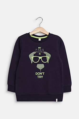 Sweatshirt with a print, 100% cotton