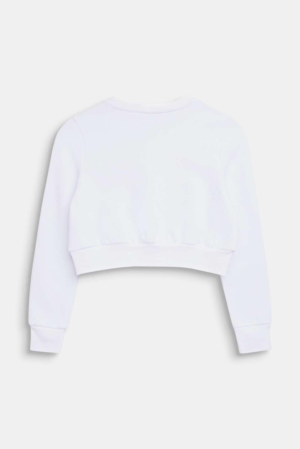 Cropped logo sweatshirt, LCWHITE, detail image number 1