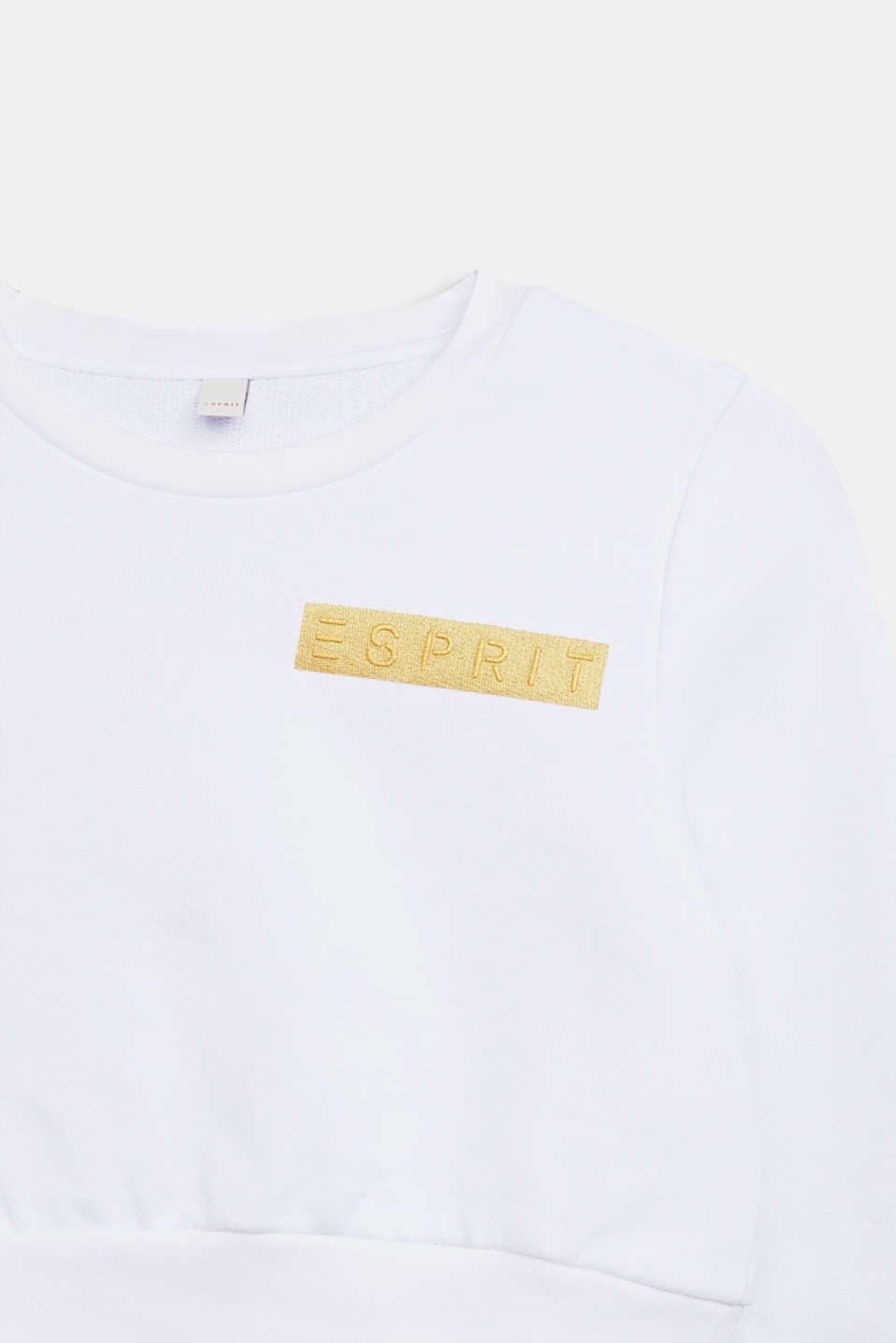 Cropped logo sweatshirt, LCWHITE, detail image number 2