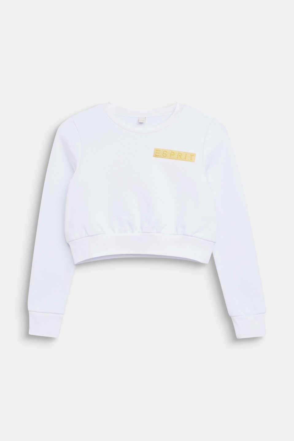 Cropped logo sweatshirt, LCWHITE, detail image number 0