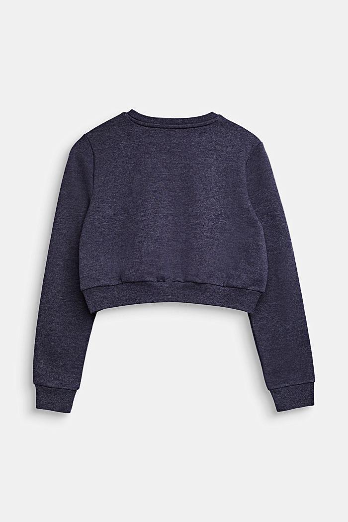 Korter sweatshirt met logo, NIGHT BLUE, detail image number 1