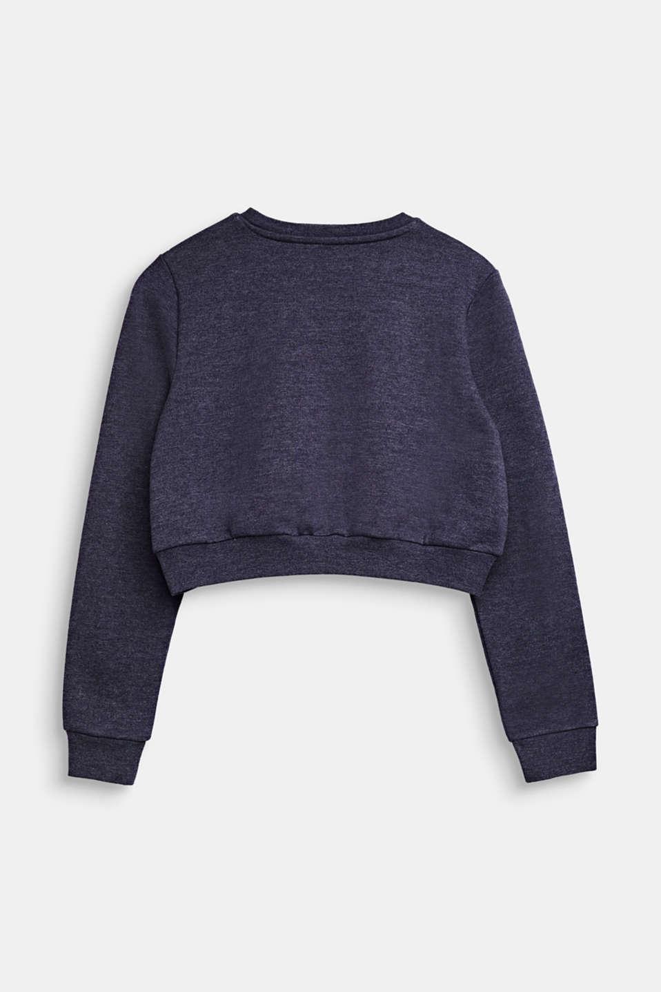 Cropped logo sweatshirt, LCNIGHT BLUE, detail image number 1