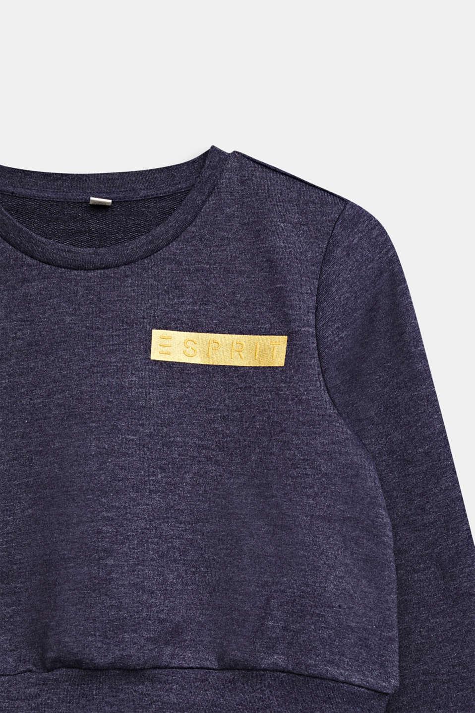 Cropped logo sweatshirt, LCNIGHT BLUE, detail image number 2