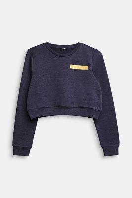 Cropped logo sweatshirt, LCNIGHT BLUE, detail