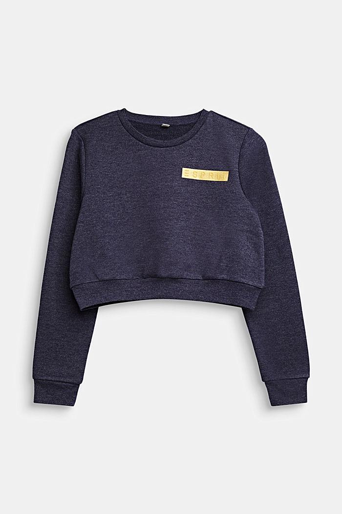Korter sweatshirt met logo, NIGHT BLUE, detail image number 0