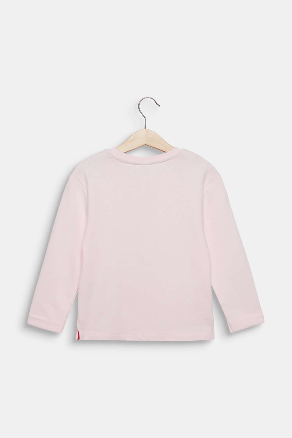 Sweatshirt with a print, 100% cotton, LIGHT PINK, detail image number 1