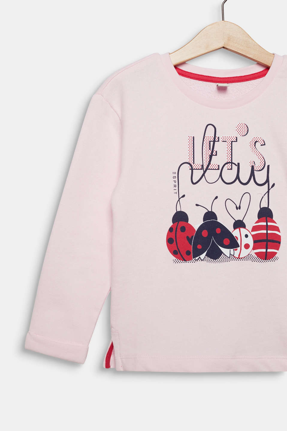 Sweatshirt with a print, 100% cotton, LIGHT PINK, detail image number 2