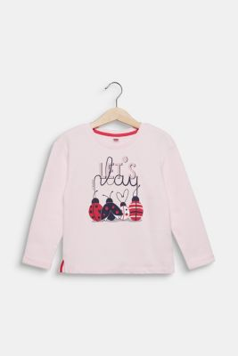 Sweatshirt with a print, 100% cotton, LIGHT PINK, detail