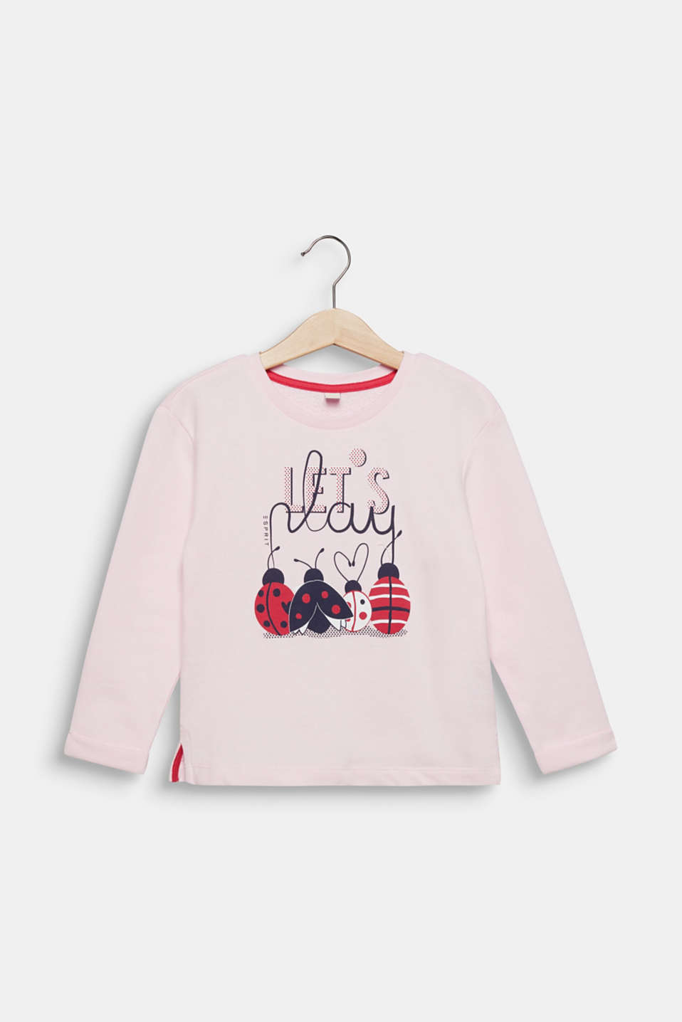 Sweatshirt with a print, 100% cotton, LIGHT PINK, detail image number 0