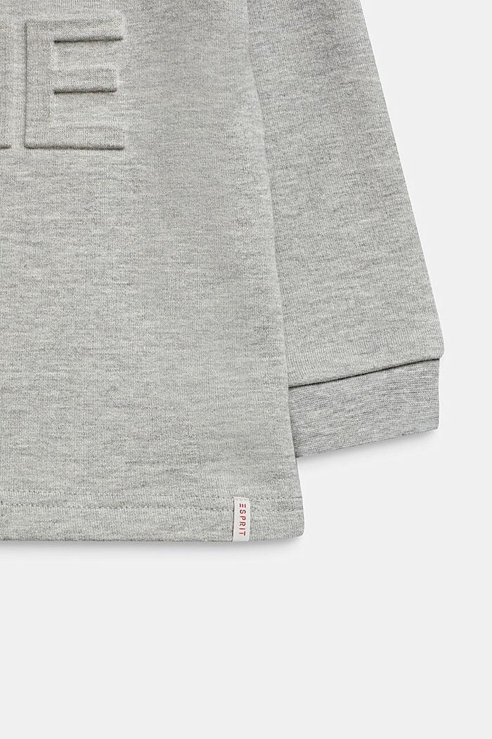 Print-Sweatshirt mit 3D-Prägung, HEATHER SILVER, detail image number 2