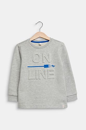 Printed sweatshirt with 3D embossing