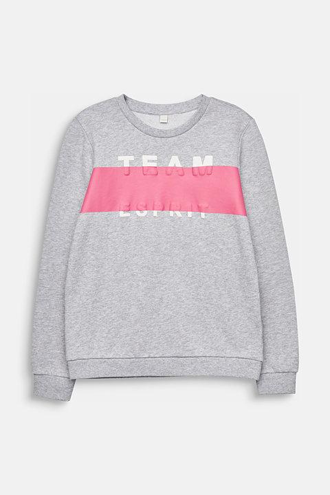 Statement sweatshirt, 100% cotton