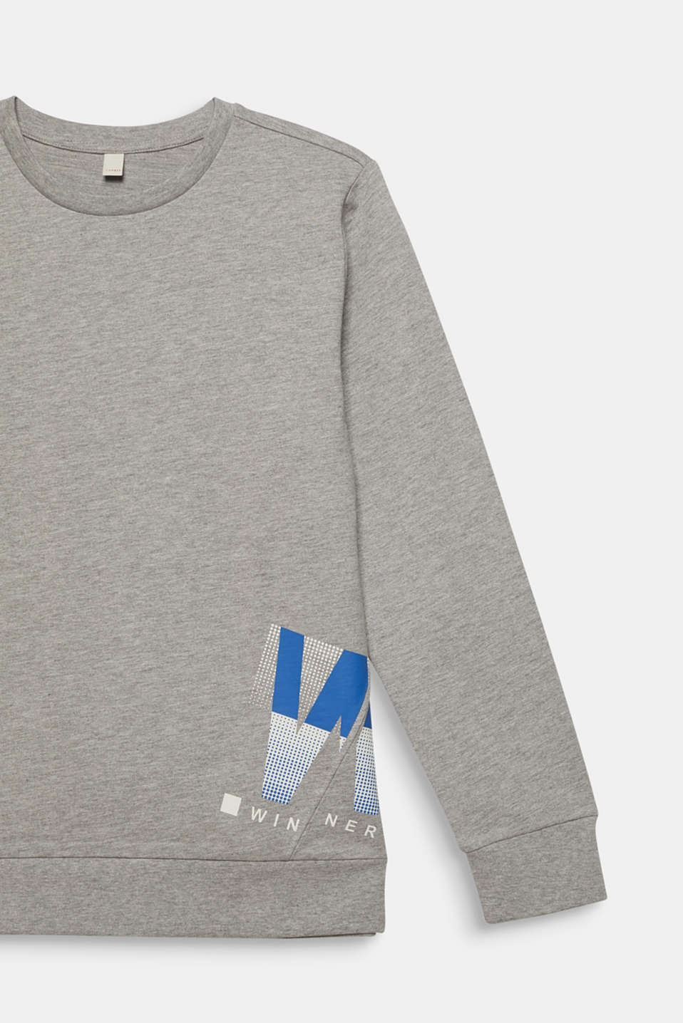 Melange sweatshirt with a positioned print, LCMID HEATHER GR, detail image number 2
