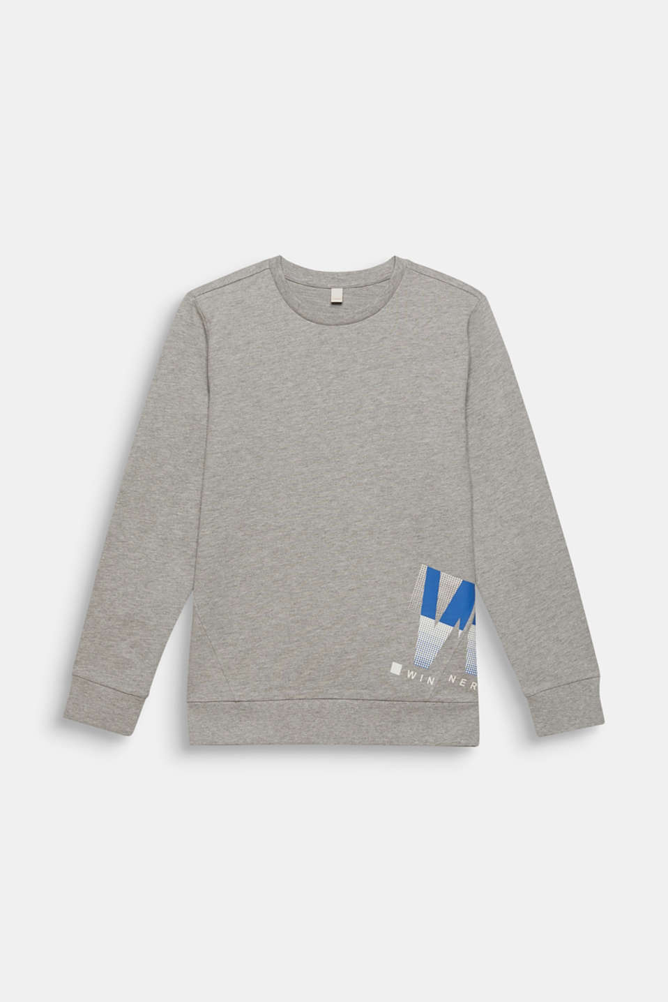 Esprit - Melange sweatshirt with a positioned print